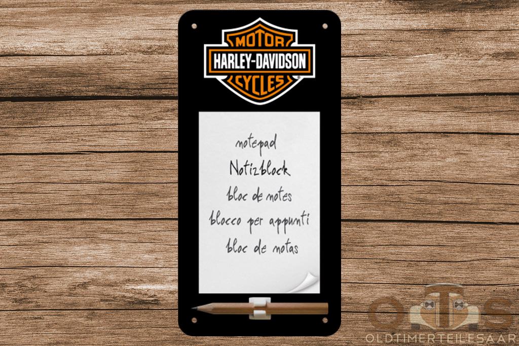 Harley Davidson Blech Notizblock