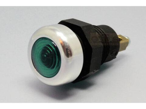 Kontrollleuchte Kontrolllampe Anzeigelampe Anzeigeleuchte rot Alurand Oldtimer