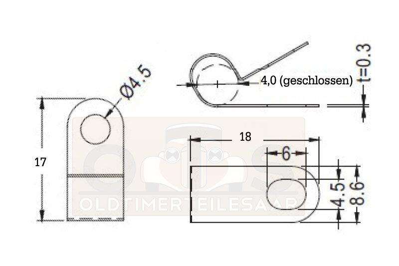 Versandbox24 4 St/ück Rohrschelle Edelstahl A2 RSGU Halteschelle P-Clip W4