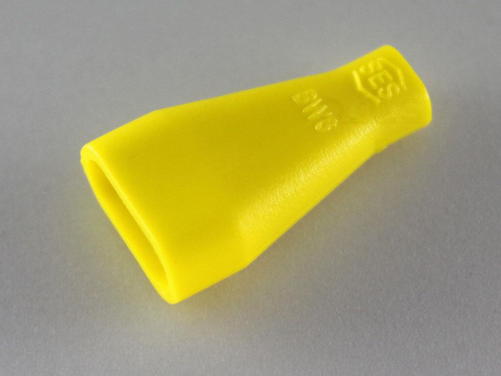 Isoliertülle schräg PVC 6.3 gelb für Flachstecker staubdicht