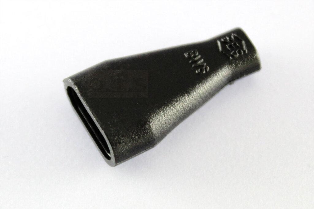 Isoliertülle schräg PVC 6.3 schwarz für Flachstecker staubdicht