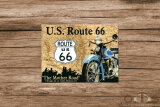 Route 66 Landkarte Mother Road Magnet 6 x 8 cm