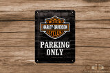 Harley-Davidson Parking only Vintage Style Blechschild 15...