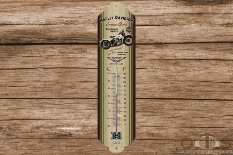 Harley-Davidson Thermometer Knucklehead 6.5x28 cm