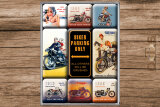 Best Garage Biker Parking only Magnet-Set 9-tlg