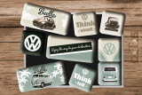 VW Beetle & Bulli Think tall & small Magnet-Set 9-tlg