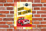MINI - Drive the Legend 1964 Blechschild 20 x 30 cm