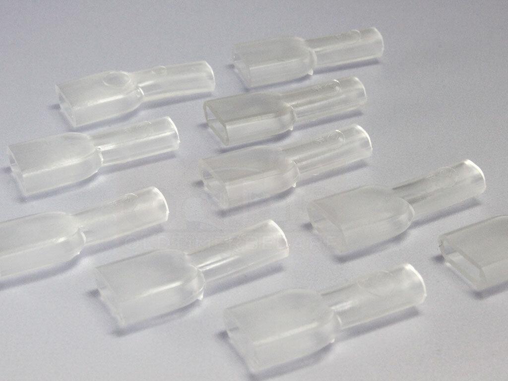 Isolationstülle für Flachsteckhülse PVC ISO 6,3 transparent