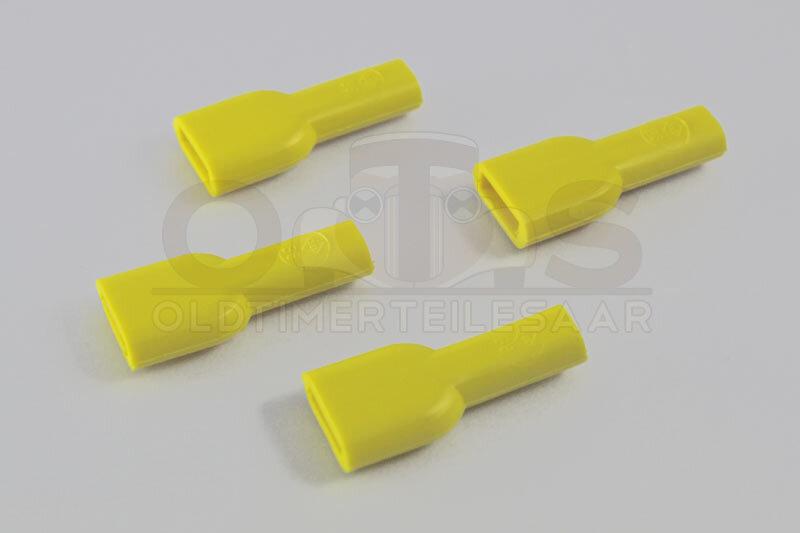 Isolierhülse für Flachsteckhülse PVC ISO 6,3 gelb