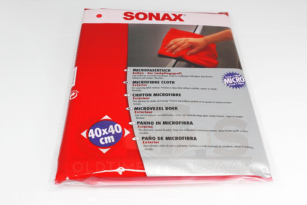 SONAX MicrofaserTuch rot Außen Poliertuch 40 x 40 cm