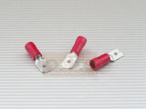 Flachstecker 6,3mm 0,5-1,5qmm Iso-Crimp PVC rot