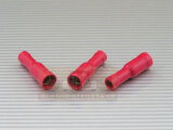 Rundsteckhülse 4 mm rot 0,5-1,5mm² PVC vollisoliert