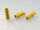 Rundsteckhülse 5 mm gelb 4,0-6,0mm² PVC vollisoliert