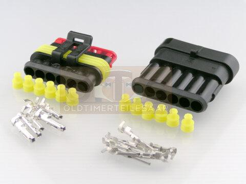 Fabulous AMP SUPERSEAL Stecker Kupplung Set 6-polig wasserdicht IP67 MTA CY05