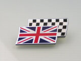 Union Jack Chequered Flag Metallabzeichen 51 x 30 mm...