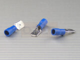 Flachstecker 6,3mm 1,5-2,5qmm Iso-Crimp PVC blau