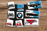 BMW Vintage Cars Magnet-Set 9-tlg