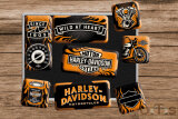 Harley-Davidson Wild at Heart Magnet-Set 9-tlg
