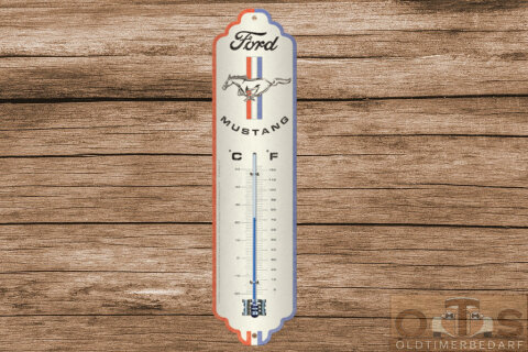 FORD Mustang Horse & Stripes Thermometer 6.5x28 cm