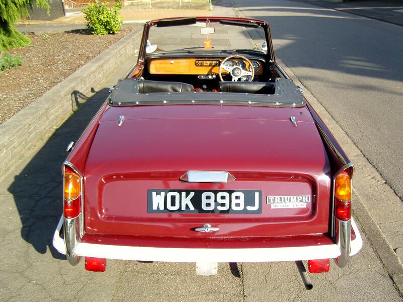 1971er Triumph Herald 13/60 Cabrio
